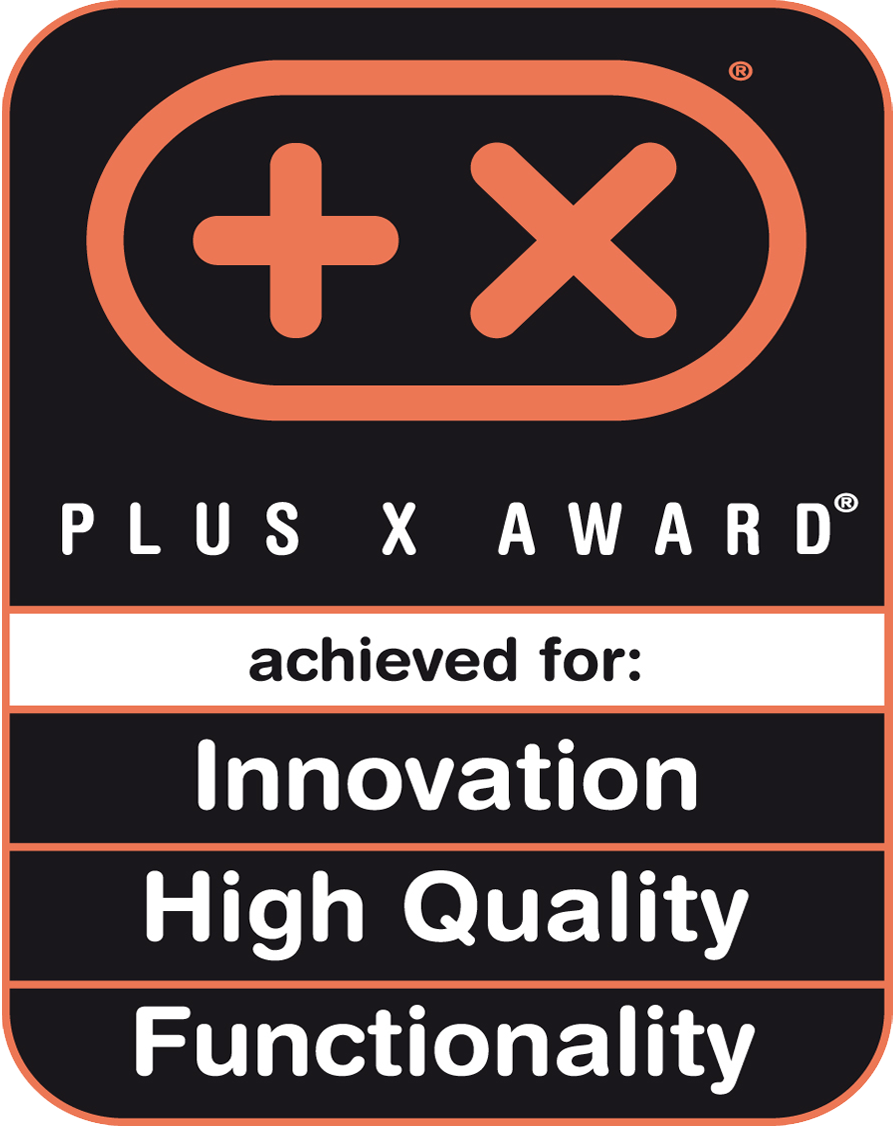 Plus X Award Innovation High Quality Functionality